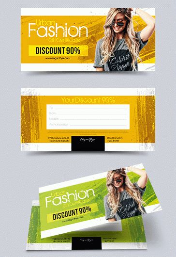 New Year's Certificate PSD Template