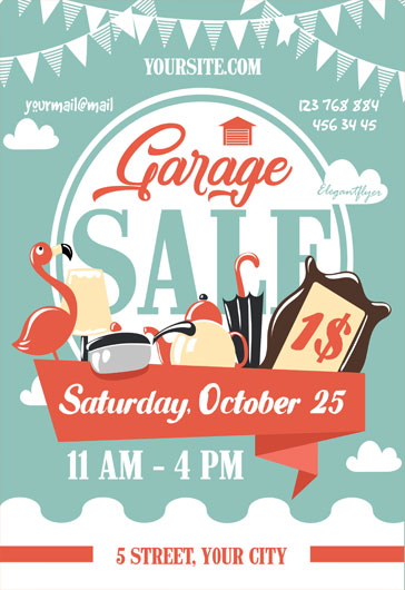 Garage Sale  Free Flyer Psd Template  By Elegantflyer