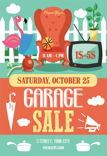 Garage Sale- Flyer PSD Template