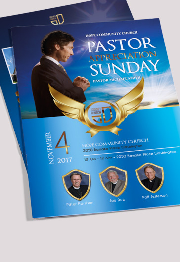 Bi-Fold Brochure for Pastor Appreciation Sunday