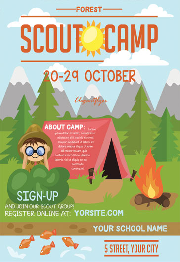 Boy Scout Camping Flyer