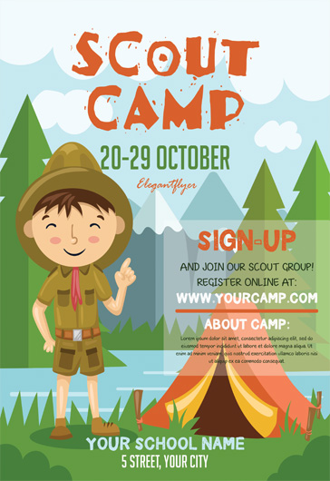 Boy Scouts Day – Flyer PSD Template