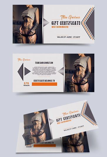 Shopping Center – Free Gift Certificate PSD Template