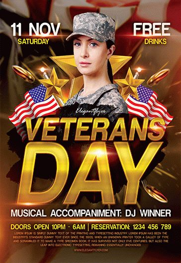 free veterans day flyer template by elegantflyer