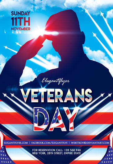 veterans day flyer psd template by elegantflyer