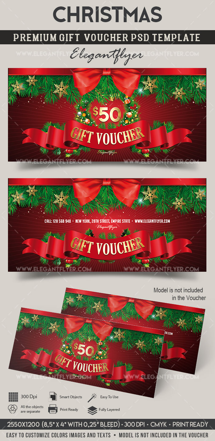 Christmas – Premium Gift Certificate PSD Template