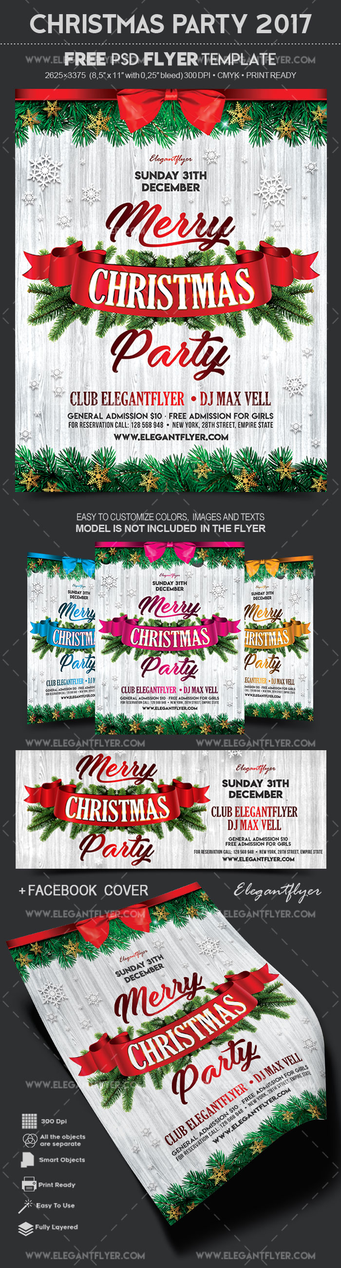 Christmas Party 2017 – Free Flyer PSD Template