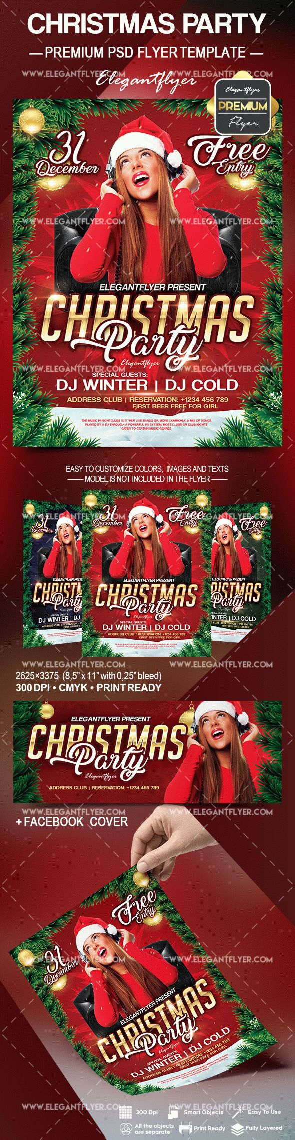 Christmas Music Party Flyer