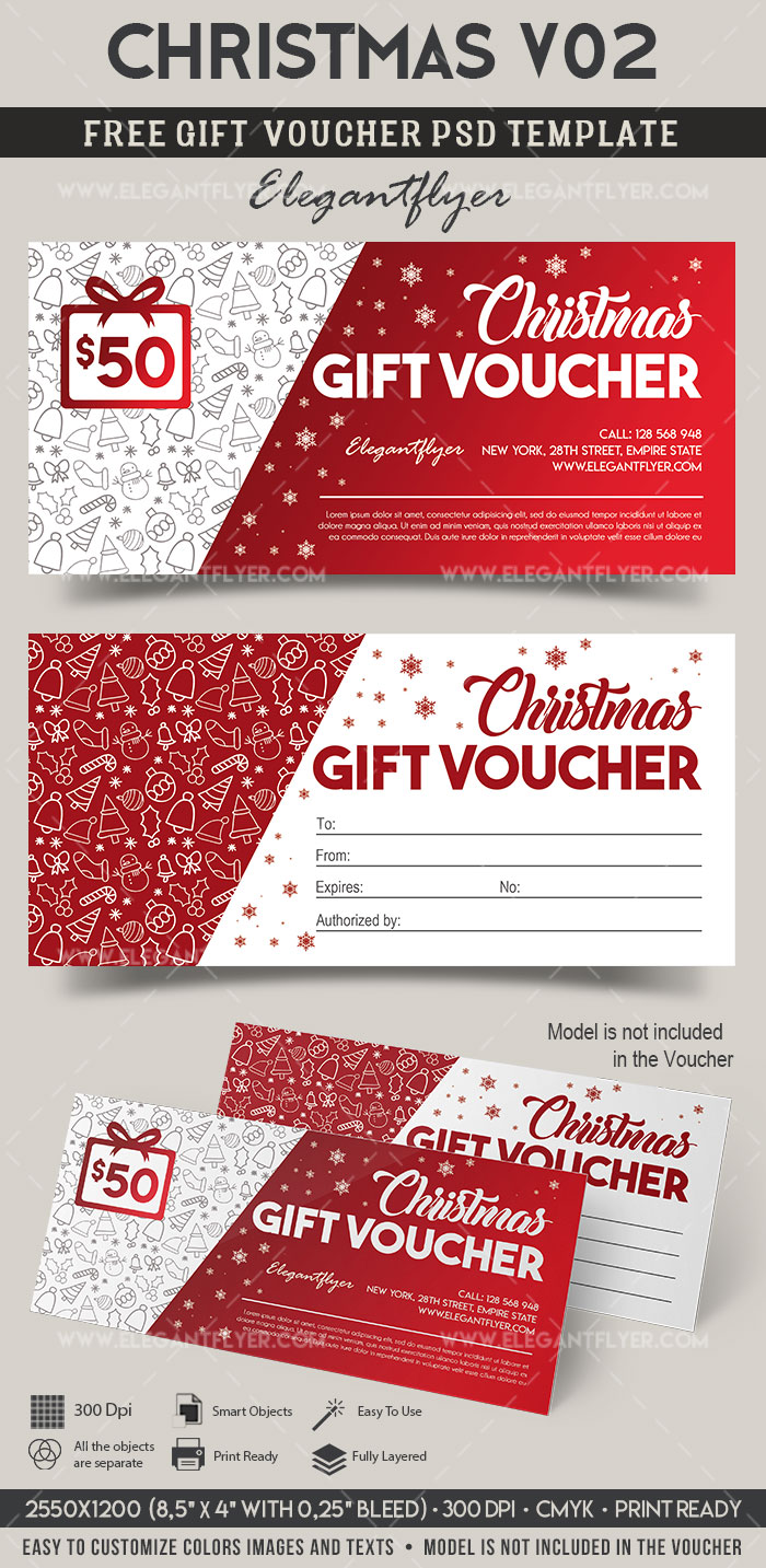 Christmas V02 – FREE Gift Certificate PSD Template