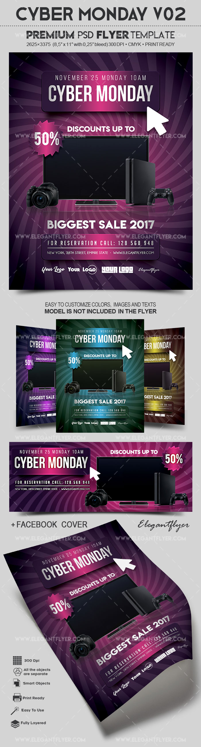 Cyber Monday V02 – Flyer PSD Template