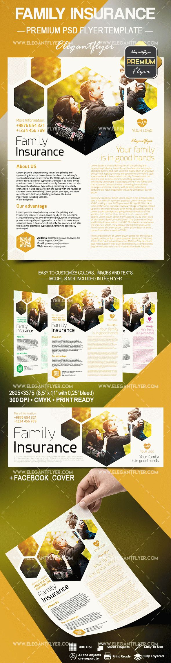 Family Insurance PSD Template