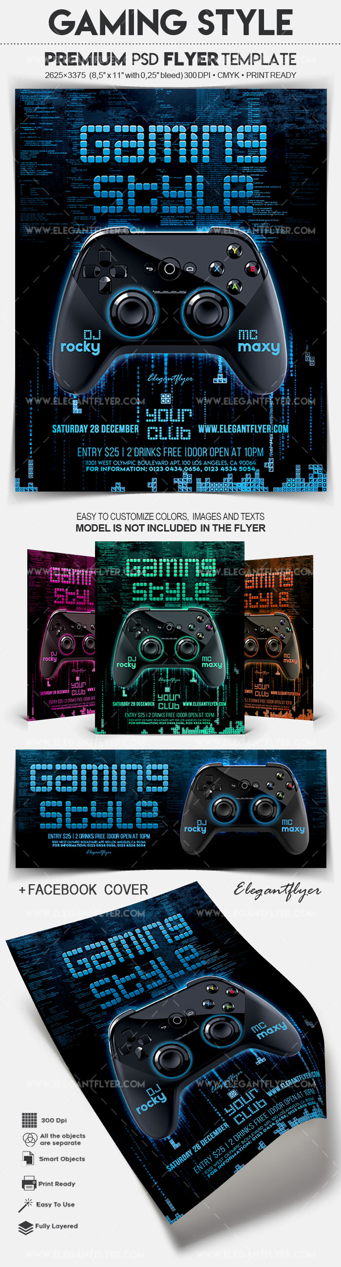 Gaming Style – Flyer PSD Template