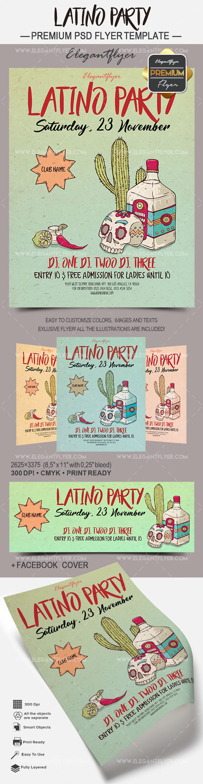 Latino Party – Flyer PSD Template