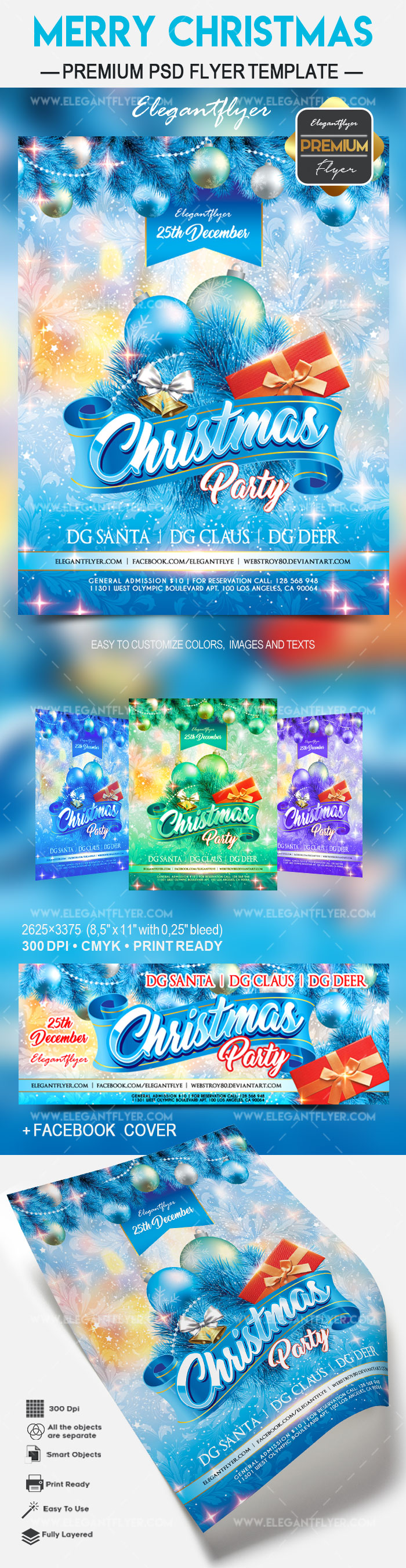 Merry Christmas PSD Poster Template