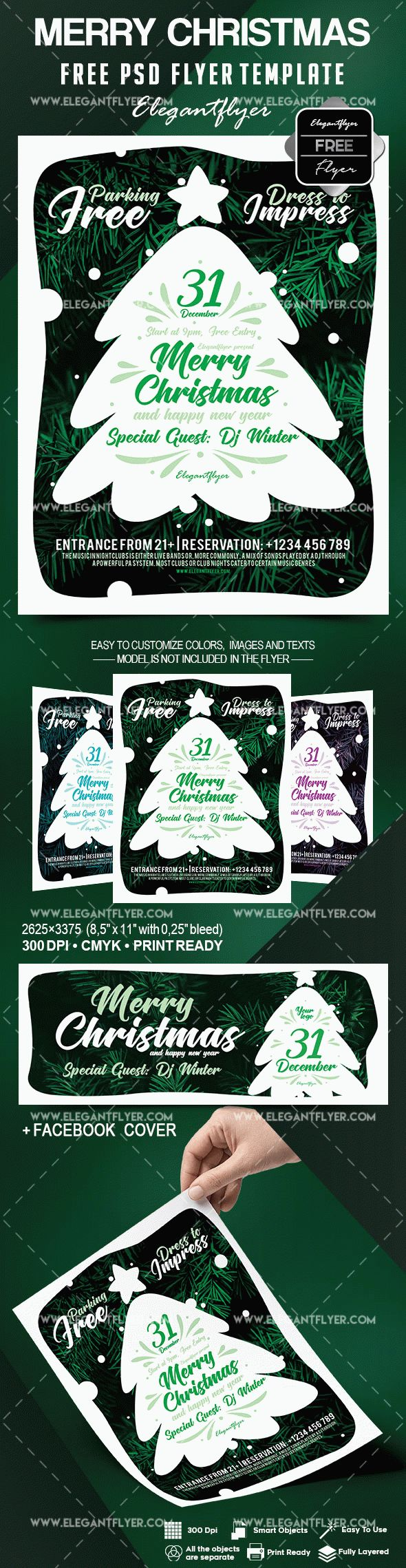 Free Merry Christmas Flyer Template