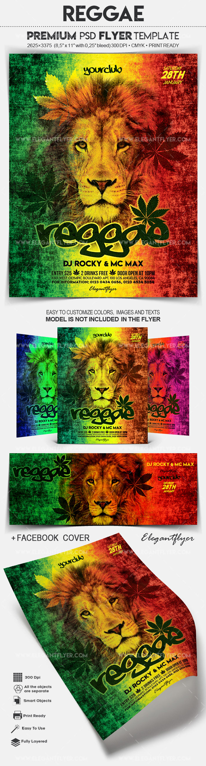 Reggae – Flyer PSD Template