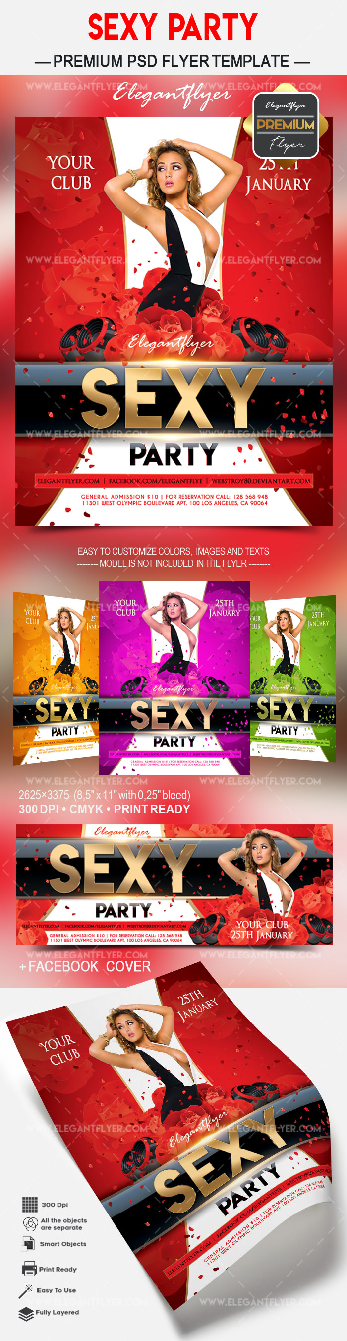 Sexy party – Flyer PSD Template