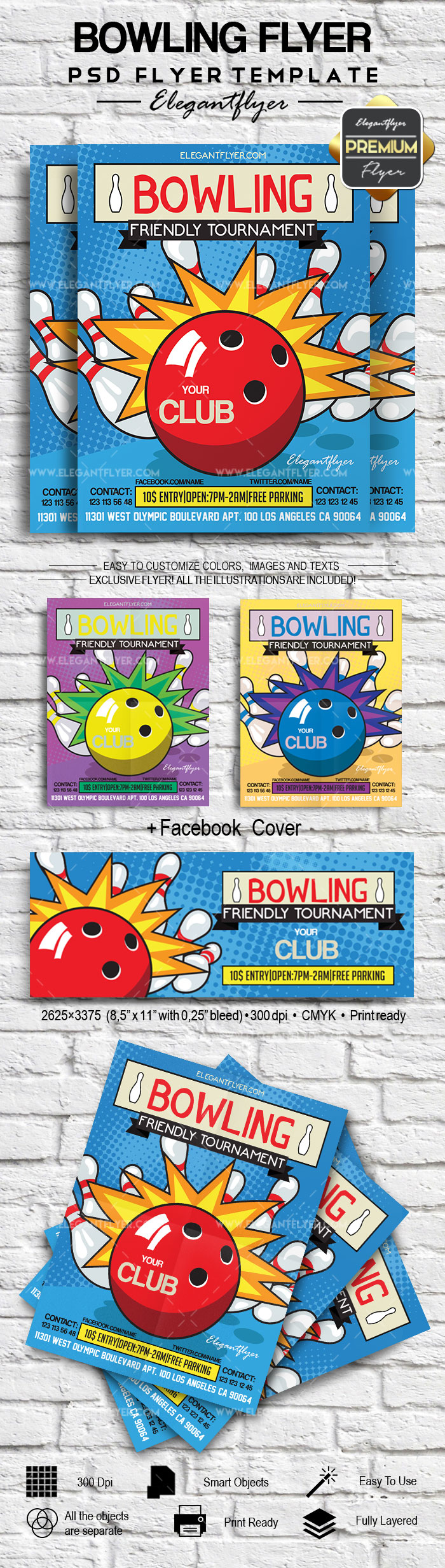 Bowling – Flyer PSD Template
