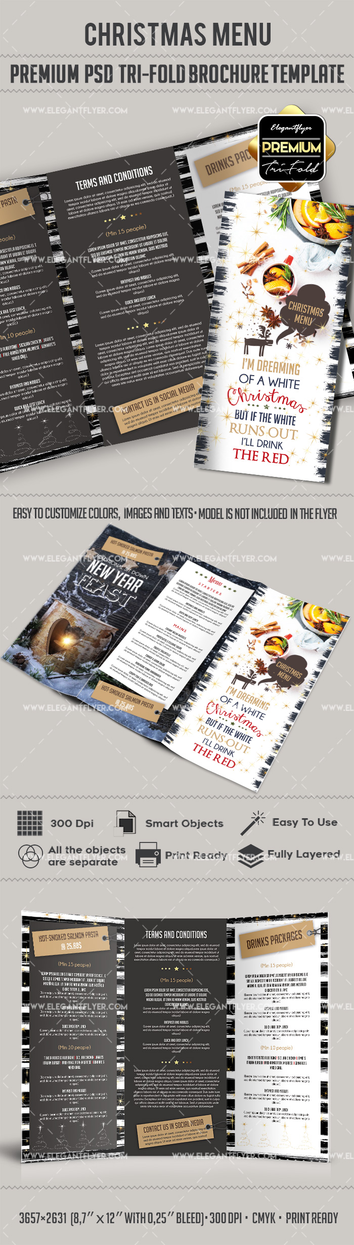 PSD Brochure for Christmas Brunch