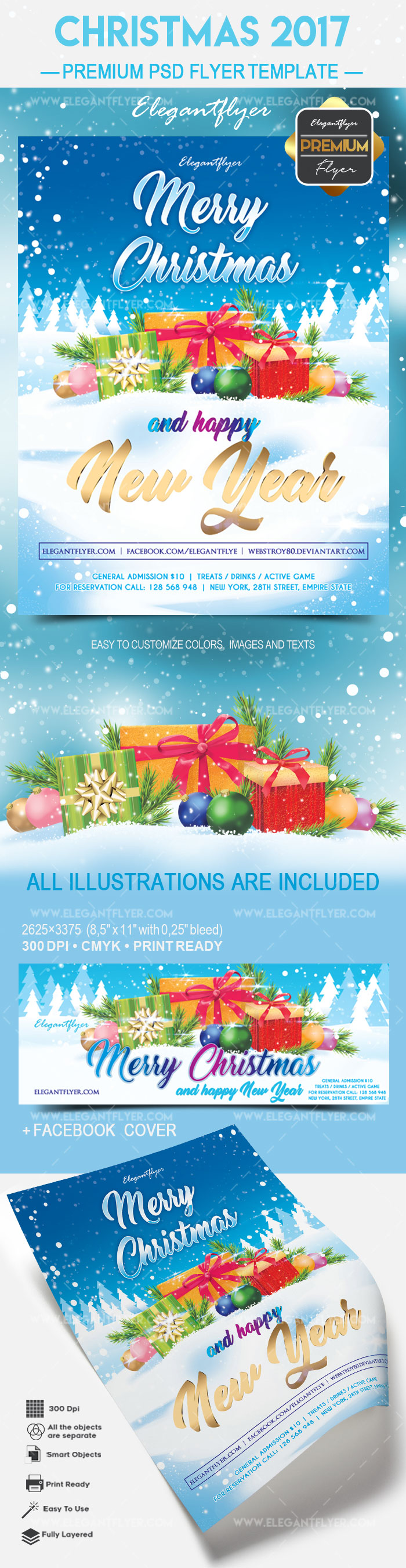 Christmas 2017 – Flyer PSD Template