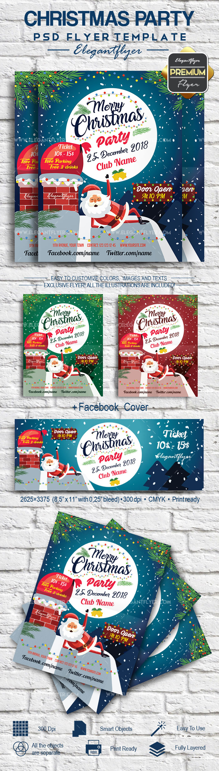 Merry christmas flyer template by elegantflyer for Christmas brochure template