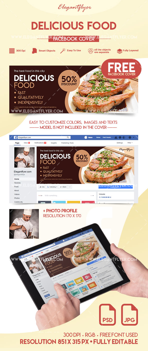 Delicious Food – Free Facebook Cover
