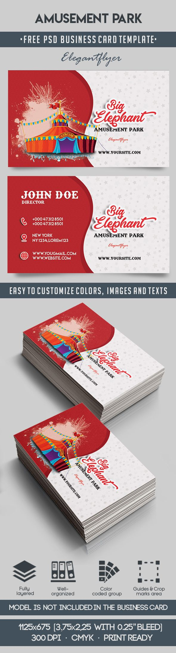 Amusement park free business card templates psd by elegantflyer amusement park free business card templates psd reheart Choice Image