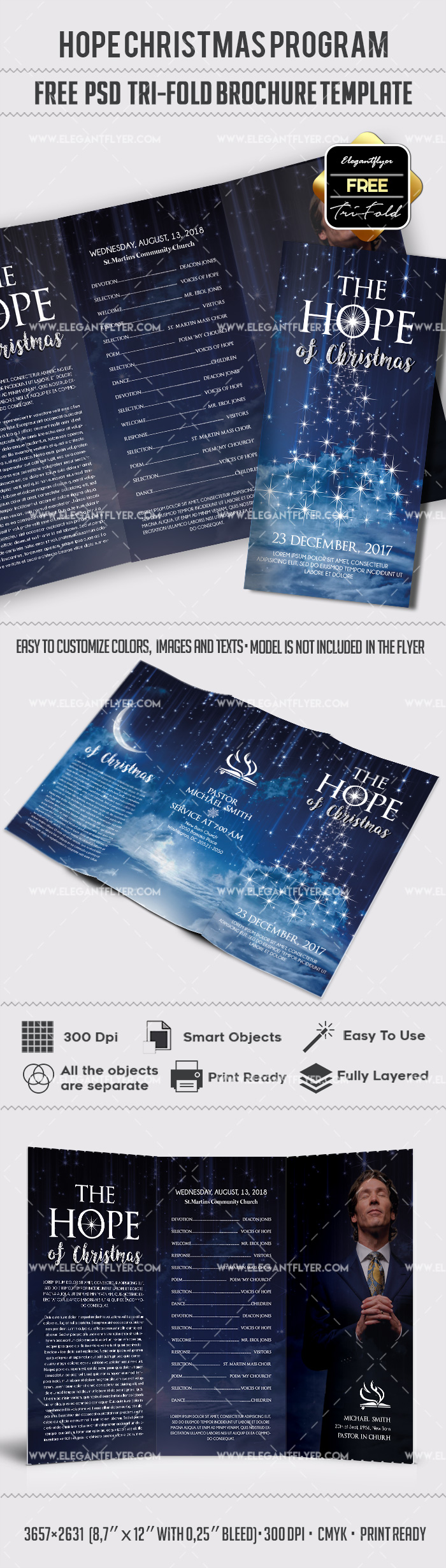 Free Hope Christmas PSD Brochure