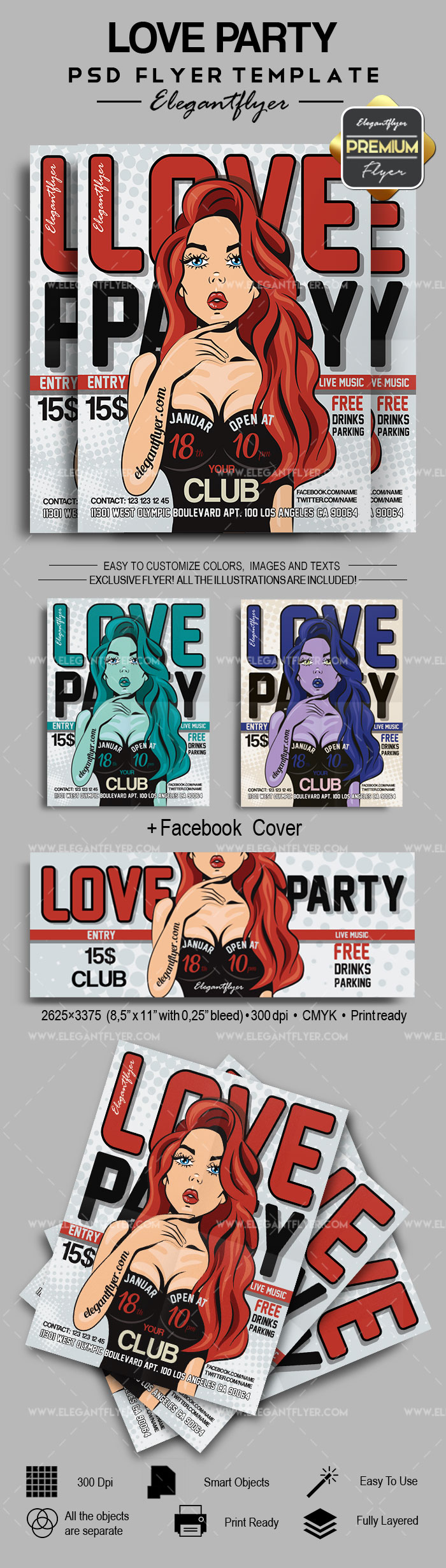Love Party- Flyer PSD Template