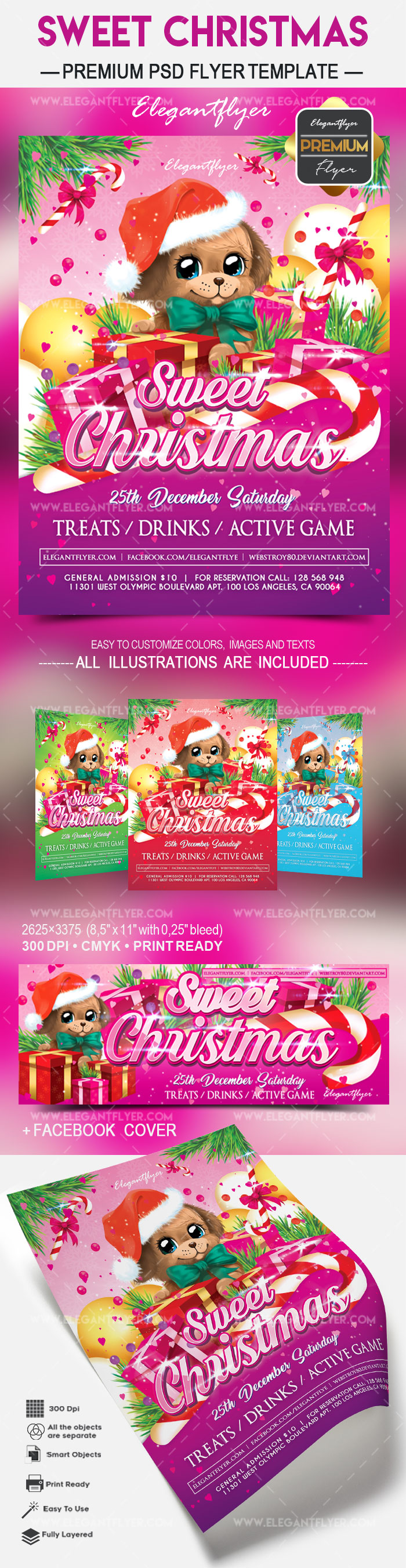 Sweet Christmas – Flyer PSD Template