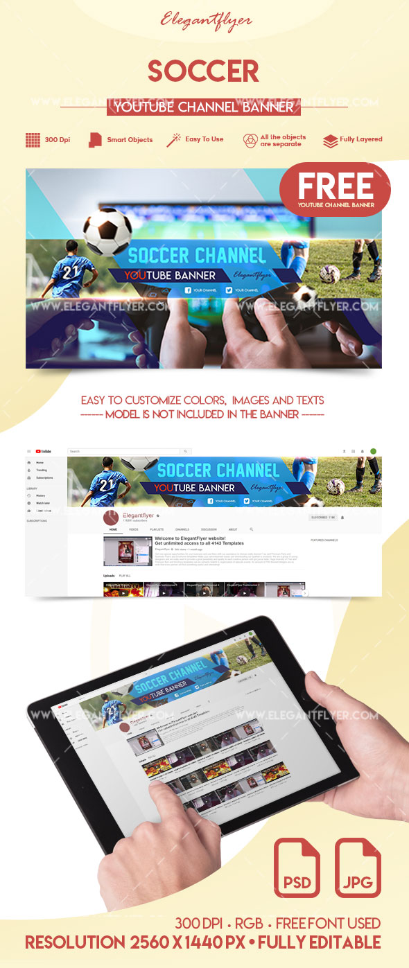 Soccer – Free YouTube Channel Banner