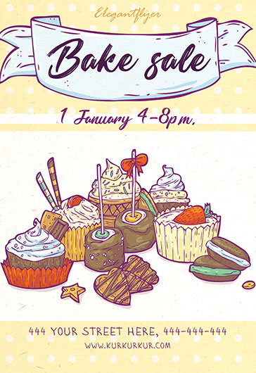 Best Cakes for Bake Sale PSD Template