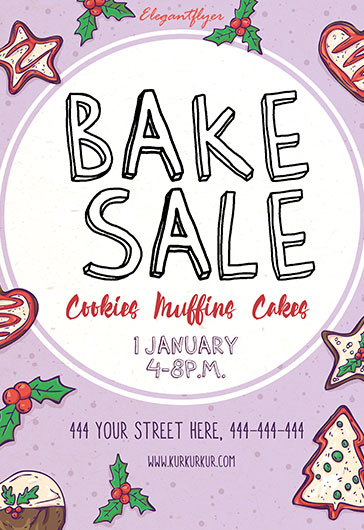 Flyer Template for Christmas Bake Sale