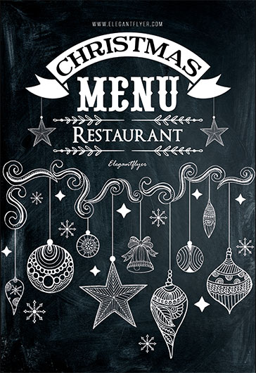 christmas menu restaurant  u2013 free psd template  u2013 by
