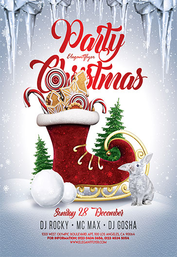 Snowy Winter – Flyer PSD Template