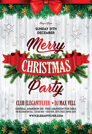 christmas party 2017 free flyer psd template by elegantflyer