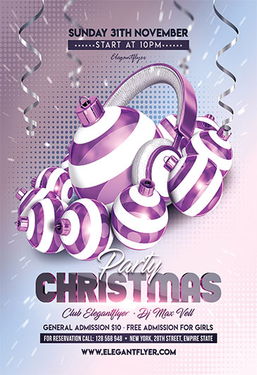 Christmas and New Year Party – Flyer PSD Template