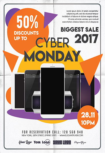 Cyber Monday Sale – Flyer PSD Template