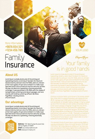 Family Insurance – PSD Template