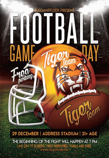 Football GameDay – Flyer PSD Template