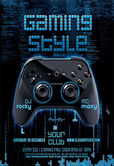 gaming style  u2013 flyer psd template  u2013 by elegantflyer