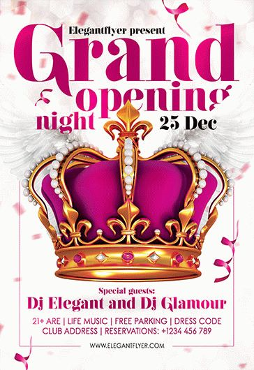 Free Grand Opening Night Flyer Template By Elegantflyer