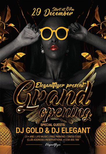 Free Grand Opening Night Flyer Template
