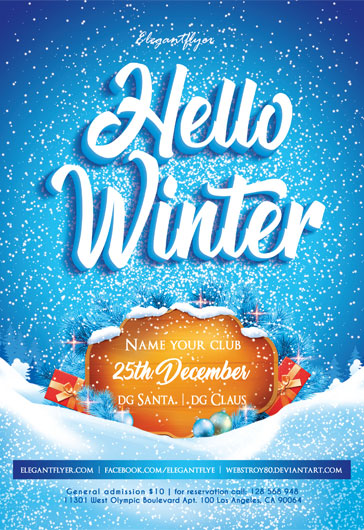 Hello Winter 2018 – Flyer PSD Template