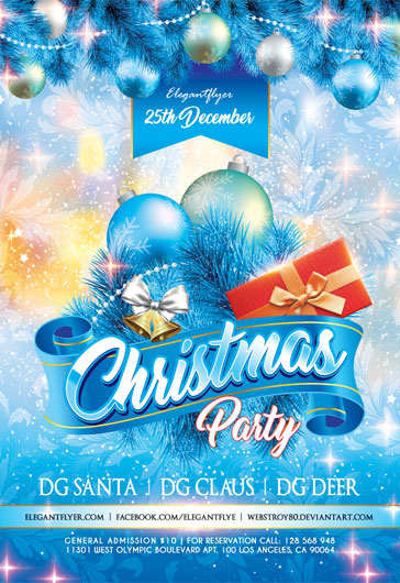 Merry Christmas Poster Template – by ElegantFlyer