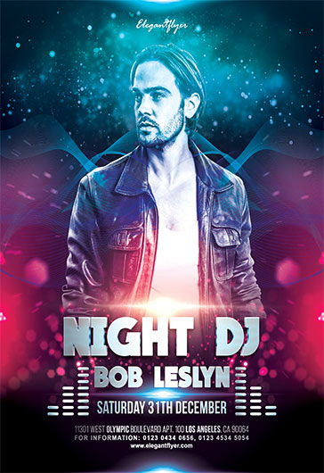 Night DJ – Flyer PSD Template