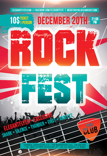 Rock and Bike Fest PSD Template