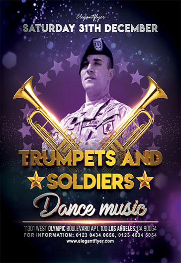 Trumpets and Soldiers – Flyer PSD Template