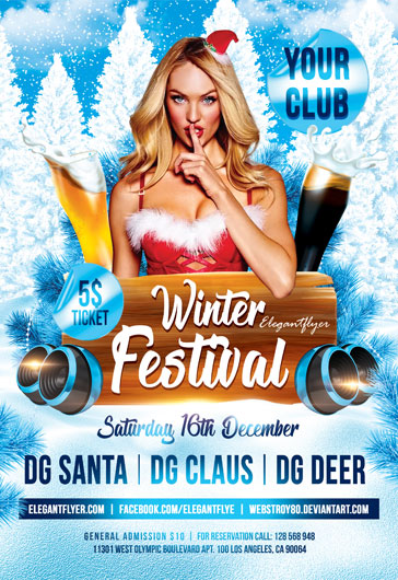 Winter Music Festivals PSD Template