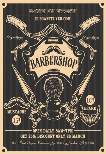 Flyer for Mens Barbershop